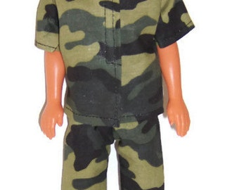 His Doll Clothes-Camouflage Short Sleeeve Shirt & Pants