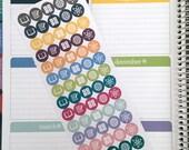 Plan Your Year Subject Stickers for Erin Condren Teacher Planner