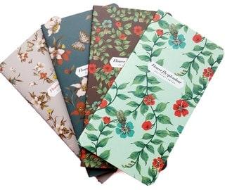 Set of 4 Journal Notebooks  - Flower Splendor