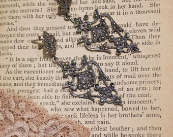 Fairy Tales Silver/Marcasite Antique Earrings
