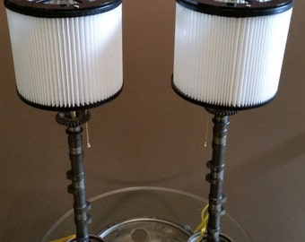His & Her's Motorcycle Camshaft Lamp Set