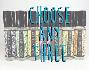 Choose Any THREE -- Book, Video Game, RPG, Geeky Inspired .3 oz Perfume Oils