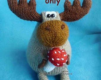 Moose, amigurumi knitting pattern