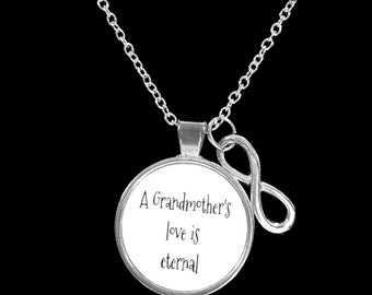 Infinity A Grandmother's Love Is Eternal Gift For Grandma Necklace