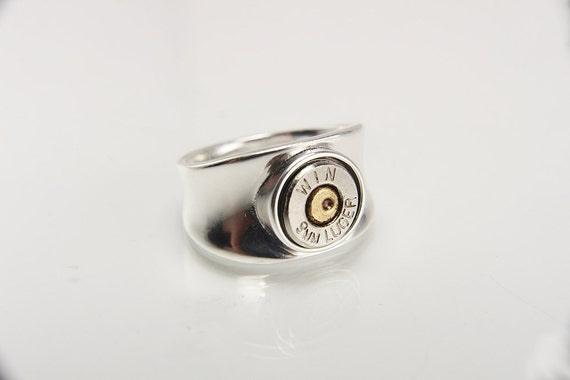 sterling silver bullet ring silver bullet jewelry sterling