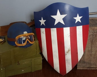 Adult WWII Style Captain America Helmets & Shields