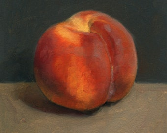 Peach Oil Painting