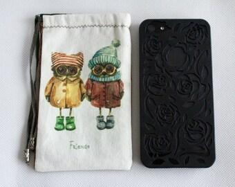 Mobil case Friends, Owl mobile case
