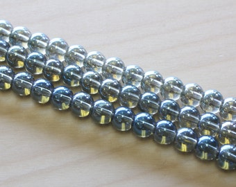 6MM Electroplate Glass Beads
