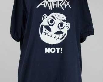 1980s Anthrax Not Man NOS Vintage Band T-Shirt, size XL