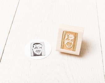 Jack (The Shining) Rubber Stamp