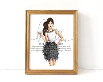 Shaken Not Stirred (Fashion Illustration Print)