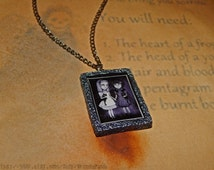 Fran Bow Portrait in Handmade Antique Silver Polymer Clay Frame