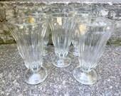 Set of 5 Vintage Ice Cream Soda Fountain Glasses / Price per Set /  New Unused / Ice Cream Floats / Parfait Glasses / ALifetimeofVintage