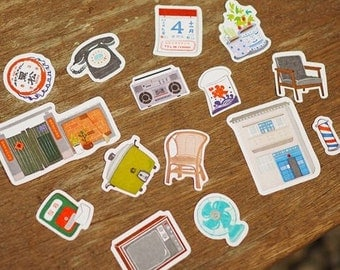 outmoded memories /Handmade decoration, decoration sticker