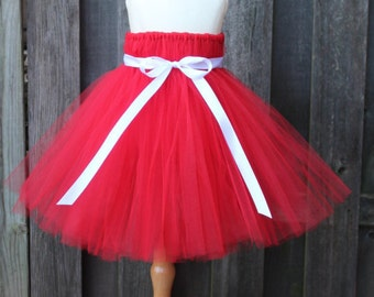 Vibrant Red Tutu Dress, Valentines Day Tutu Dress - JTW15101 - Fully lined top sizes 4T and up