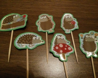 Hedgehog Cupcake Toppers