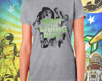 Night of the Living Dead Poster Style Women's T-Shirt George Romero's Zombie Tshirt