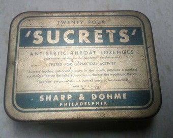 Sucrets Box Etsy