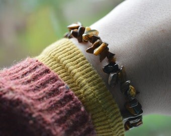 Tiger's Eye Chip Bracelet