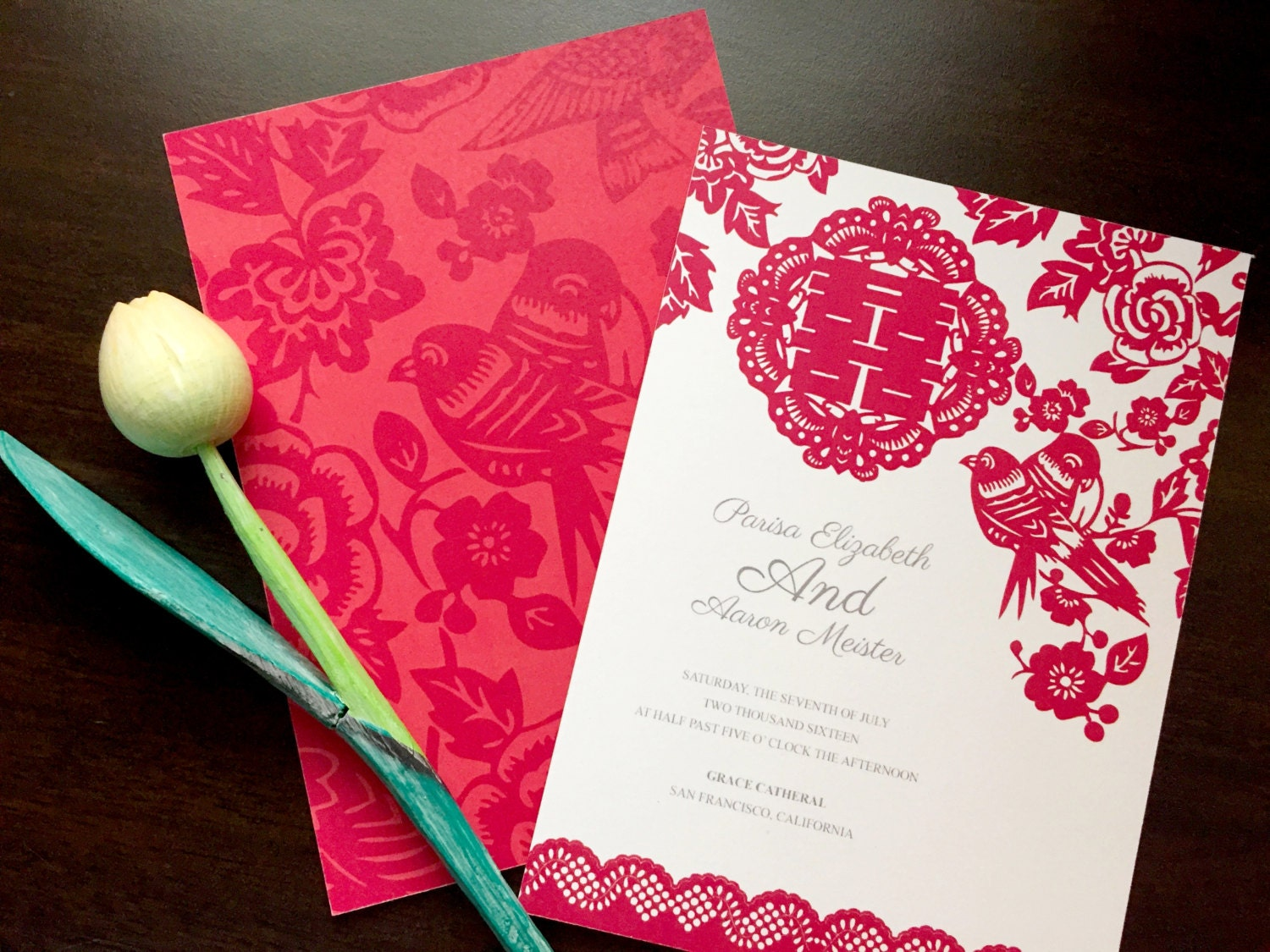 Diy printable chinese wedding celebration invitation card for Chinese wedding invitations etsy