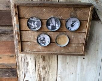 vintage zinc lid frame