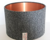 Harris Tweed Drum Lampshade/ modern lampshade/ ceiling lampshade/ table lamp