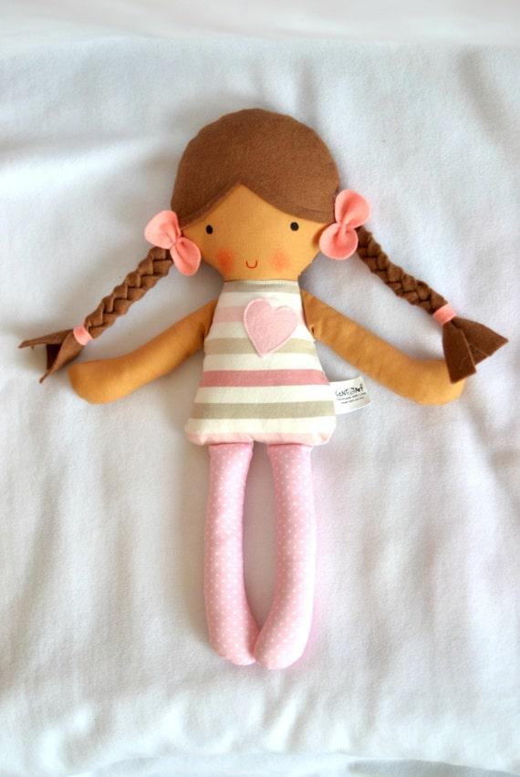 First baby doll soft doll rag doll softie cloth doll textile doll