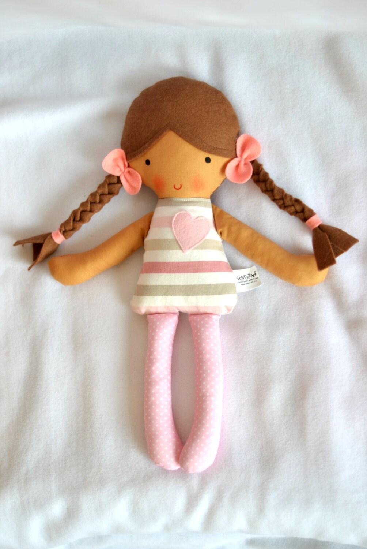 First Baby Doll Soft Doll Rag Doll Softie Cloth doll by ...