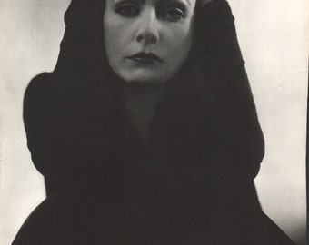 Print from book; Greta Garbo, 9 1/2 x 12 1/2 inches - PD001183