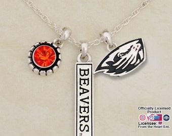 Oregon State Beavers Triple Charm Necklace