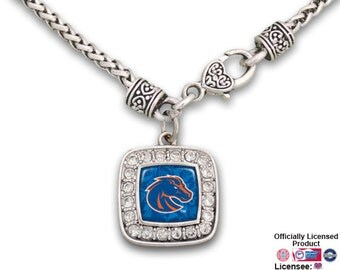 Boise State Broncos Square Large Clasp Necklace - BSU49682