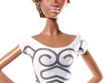 Handmade clothes for Barbie (T-shirt): Kalotaszeg Style