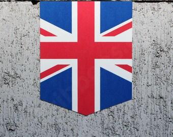 "Flag of the United Kingdom sticker - 2"" x 2.5"" - Car Decal UK Emblem Union Jack Badge"