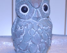 Vintage Isabel Bloom Owl Statue Signed by artist Garden Owl