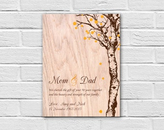 Homemade Wedding Anniversary Gift Ideas For Parents : ... anniversary gift ideas anniversary print on wood parents wedding gift