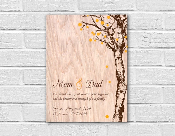 Gift Ideas For 50th Wedding Anniversary For Parents: 50th Anniversary Gift For Parents Parents Anniversary Gift
