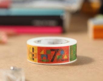 MT Washi Tape Number (MT01KID015) Japanese Masking Tape   mt for kids