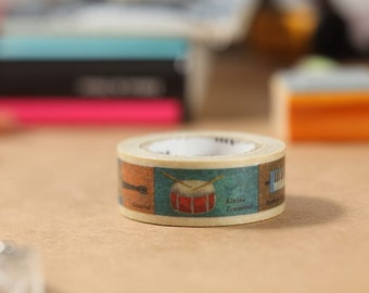 MT Washi Tape Instrument Japanese Masking Tape | mt for kids (MT01KID011)