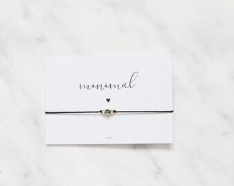 Minimalist Green Crystal Bracelet, Green Crystal Bracelet, Crystal Jewelry, Crystal Friendship Bracelet, BFF, Wish Bracelet, Wish Jewelry