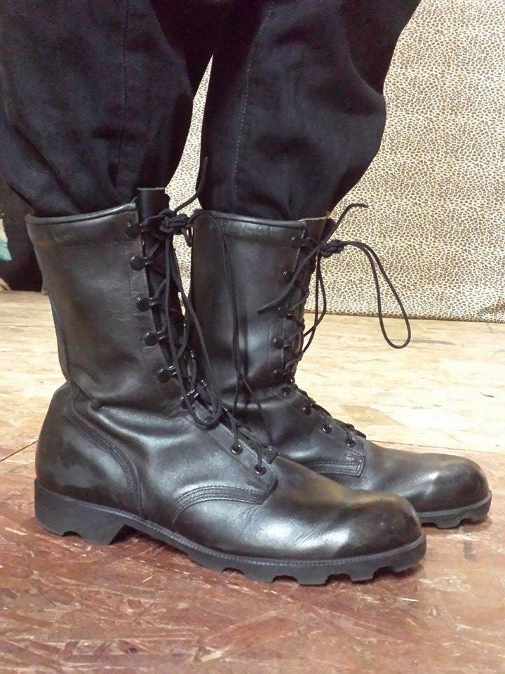 u s army combat boots size 13 like new all leather gi
