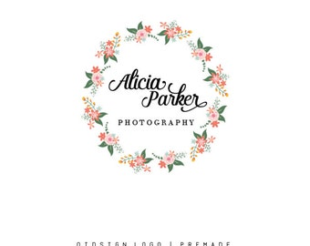 Custom Logo  Premade Logo  Logo  Business Logo  Branding  Flower logo  Boutique Logo  Photography Logo
