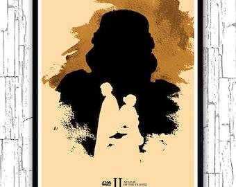 Star Wars Episode 2 Minimalist Movie Poster / Attack of the Clones