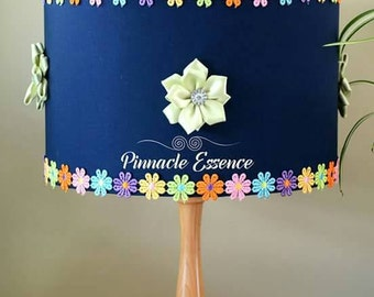 Navy and Lime Green Lampshade