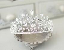 Pageant crown, Rhinestone princess crown tiara, crystal crown tiara, princess crown, birthday girl crown, bridal crown, tiara crown