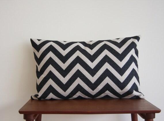 14 x 20 Decorative Pillow Cover Black Scandianvian by BeadandReel