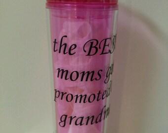 Baby announcement, tumbler, best moms, best dads, vinyl, custom