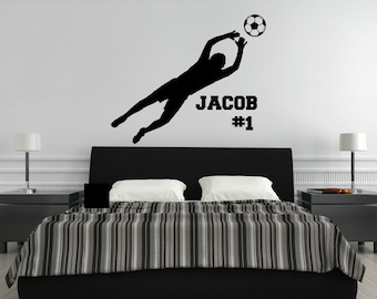 Personalized Soccer Decal - Soccer Wall Decal - Soccer Goalie Decal - Soccer Decor - Kids Room Decor - Sports Decor - Goal Keeper Decal