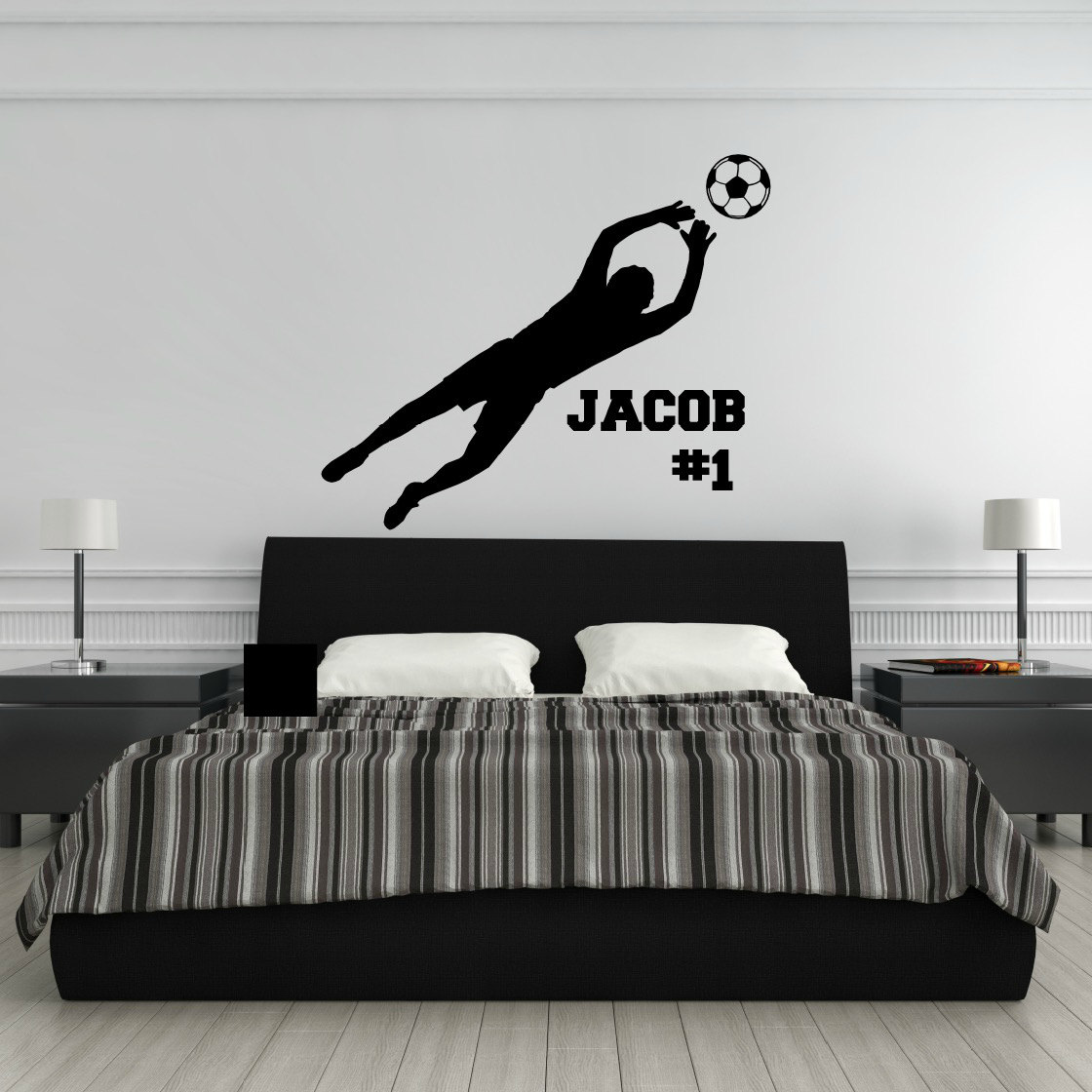 Personalized Soccer Decal Soccer Wall Decal Soccer Goalie