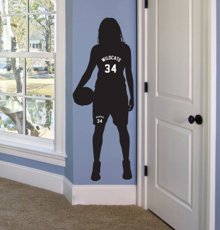 Girls basketball gifts personalized basketball decor - Stuff for girls rooms ...